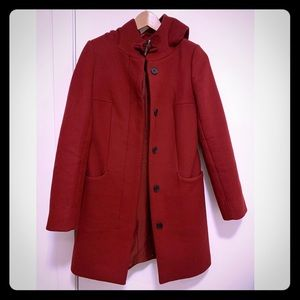 Babaton- Aritzia Wool and Cashmere red coat